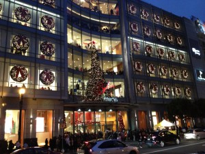 the front of Macy's - these aren't the windows with the pets