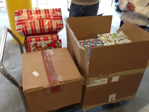 Just a few of the gifts at drop-off today!